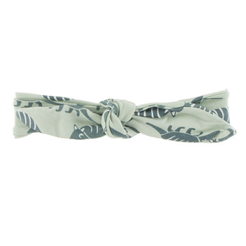 Print Bow Headband in Aloe Armadillo