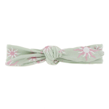 Print Bow Headband in Aloe Sunshine