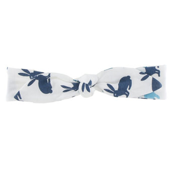 Print Bow Headband in Bay Hare