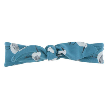 Print Bow Headband in Bay Sandpiper