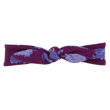 Print Bow Headband in Melody Musk Ox