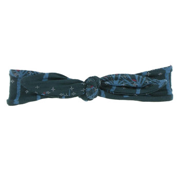 Print Bow Headband in Pine Frosted Birch