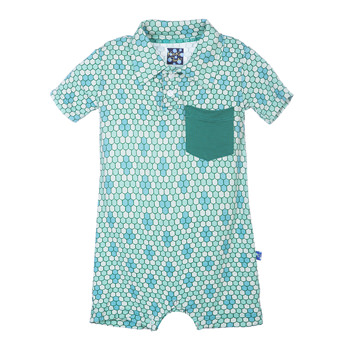 Polo Romper with Pocket in Python