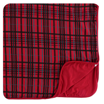 Print Toddler Blanket in Christmas Plaid