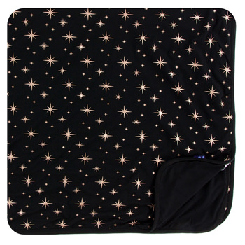 Print Toddler Blanket in Rose Gold Bright Stars