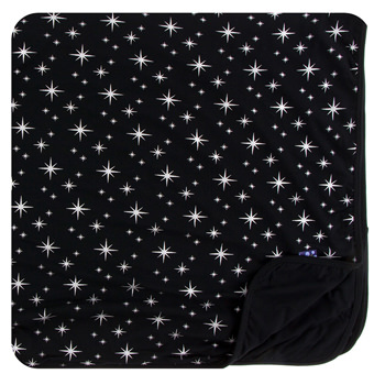 Print Toddler Blanket in Silver Bright Stars