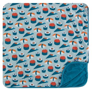 Print Toddler Blanket in Jade Sushi