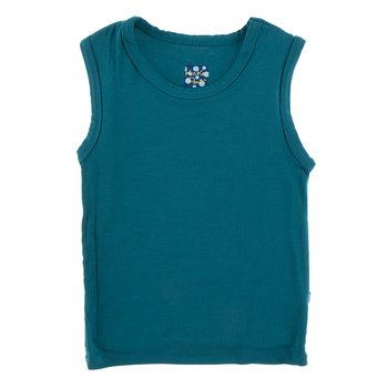 Solid Sport Tank in Heritage Blue