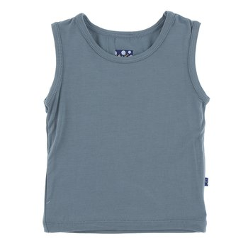 Solid Sport Tank in Dusty Sky
