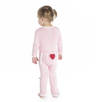 Holiday Applique Coverall in Lotus I Love Dad