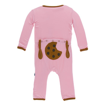 Applique Coverall in Lotus Cookie
