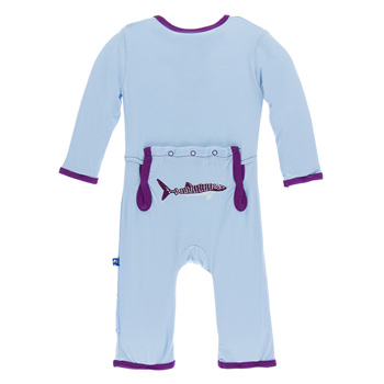 Applique Coverall in Pond Whale Shark