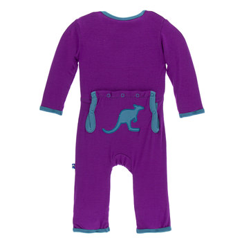 Applique Coverall in Starfish Kangaroo