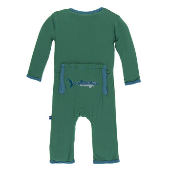 Applique Coverall in Shady Glade Whale Shark