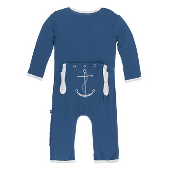 Applique Coverall in Twilight Anchor