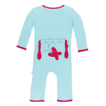 Applique Coverall in Tallulah's Butterfly