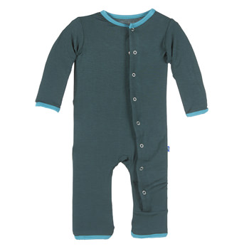 Solid Fitted Coverall in Pine with Bay Trim