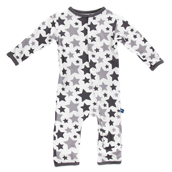 Essentials Print Coverall in Feather/Rain Stars