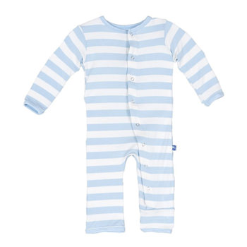 Essentials Print Coverall in Pond Stripe