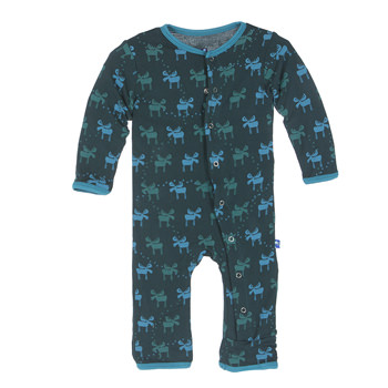 Print Coverall in Pine Moose