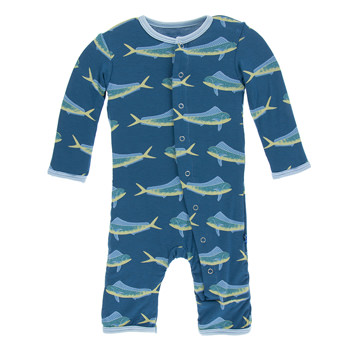 Print Coverall in Twilight Dolphin Fish