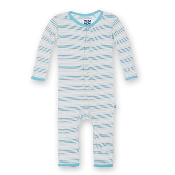Print Fitted Coverall in Boy Desert Stripe