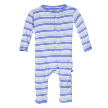 Print Fitted Coverall in Girl Tropical Stripe