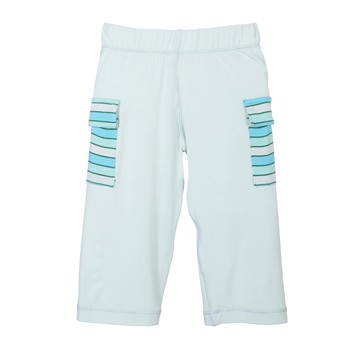 Print Cargo Pant in Aloe with Boy Tropical Stripe Pockets