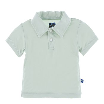 Solid Short Sleeve Polo in Aloe