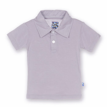 Solid Short Sleeve Polo in Feather