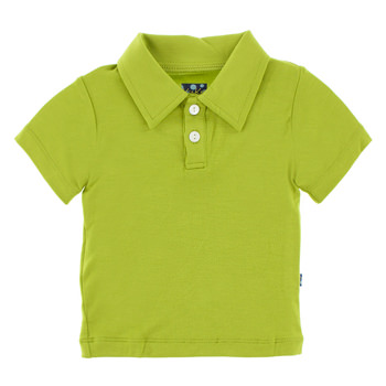 Basic Short Sleeve Polo in Meadow