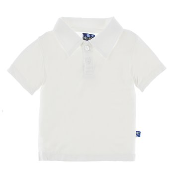 Basic Short Sleeve Polo in Natural