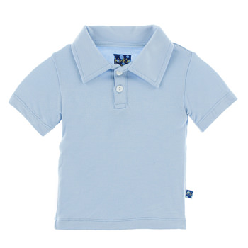 Basic Short Sleeve Polo in Pond