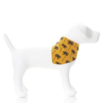 Print Dog Bandana in Apricot Palm Trees