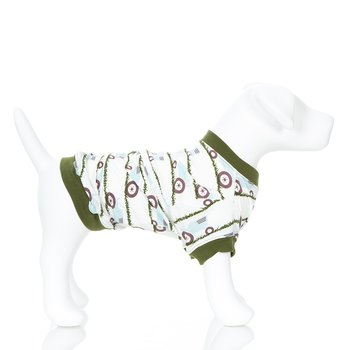Print Dog Tee in Natural Tractor and Grass
