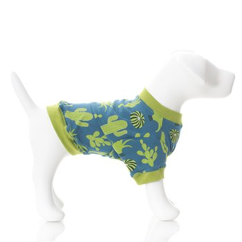 Print Dog Tee in Seagrass Cactus