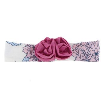 Print Flower Headband in Natural Peony