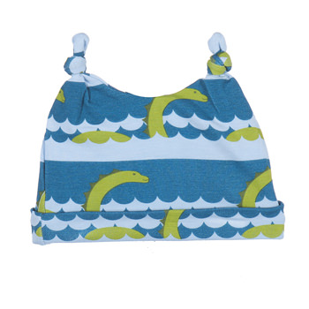 Print Double Knot Hat in Sea Monster