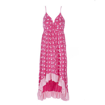 Hi Lo Ruffle Nightgown in Mary, Mary Quite Contrary