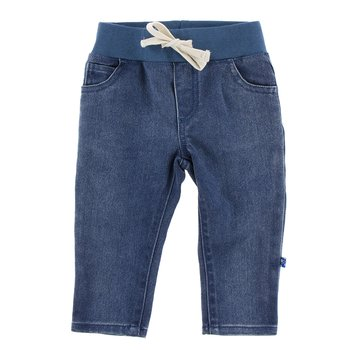Infant Stretch Waist Straight Leg Jean in Vintage Dark Wash