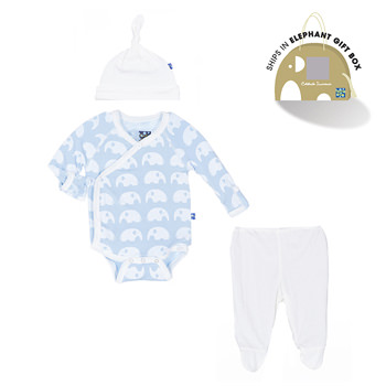 Essentials Kimono Newborn Gift Set in Pond Elephant