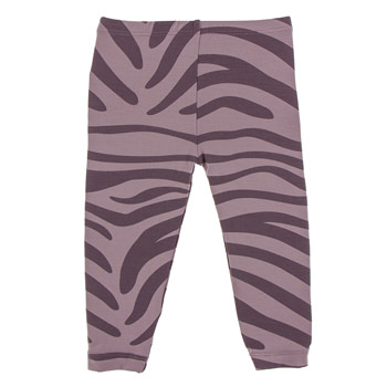 Print Legging in Elderberry Zebra Print