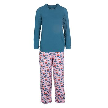 Long Sleeve Loosey Goosey Tee & Pant Set in Lotus Sushi