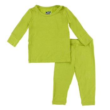 Basic Long Sleeve Pajama Set in Meadow