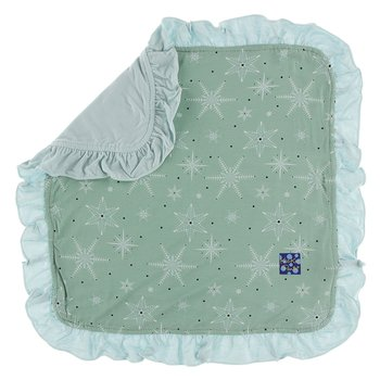 Print Ruffle Bamboo Lovey in Shore Snowflakes