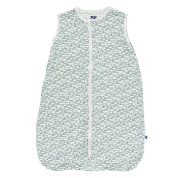 Print Lightweight Sleeping Bag in Jade Mushrooms