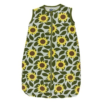 Print Lightweight Sleeping Bag in Aloe Sunflower