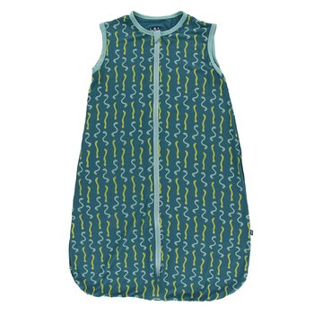 Print Lightweight Sleeping Bag in Oasis Worms