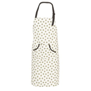 Men's Print Apron in Natural Star Anise
