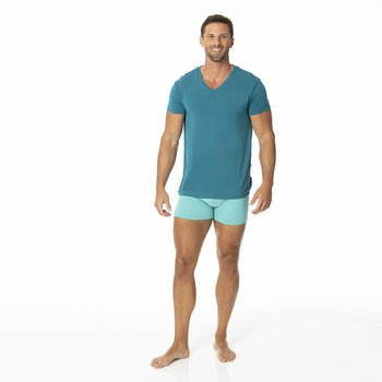 Solid Men's Boxer Brief in Glacier with Oasis